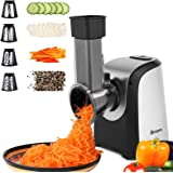 Homdox Electric Slicers, Professional Salad Maker, 150W Electric Slicer Shredder/Gratersr/Chopper/Shooter with One-Touch Cont