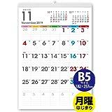 ボーナス付 2021年9月~(2022年9月付) 月曜はじまり タテ長ファミリー壁掛けカレンダー 太字タイプ(六曜入) B5サイズ 263mm×182mm[H]