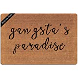 Ruiyida Gangsta Paradise Entrance Floor Mat Funny Doormat Door Mat Decorative Indoor Outdoor Doormat Non-Woven 23.6 by 15.7 I
