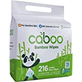 Caboo Tree-Free Bamboo Baby Wipes, Eco-Friendly Naturally Derived Baby Wipes for Sensitive Skin, 3 Resealable Peel Tab Travel