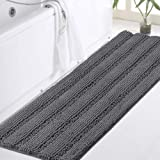 Luxurious Shaggy Chenille Bath Mat Microfiber for Hotel-Spa Tub Shower Floor Non-Slip High Absorbent Soft Large Super Soft, P