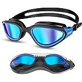 Aegend Polarized Swim Goggles, Swimming Goggles Anti-Glare Anti-Fog Adult Youth