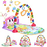 Baby Gym Baby Play Mat, Kick and Play Piano Gym with 5 Infant Learning Sensory Baby Toys, Musical Toys As Boy & Girl Gifts fo