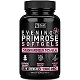 Evening Primrose Oil Capsules (150 Liquid Softgels   1300mg) 100% Pure Evening Primrose Oil - Natural Supplement to Support H