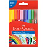 Faber-Castell Connector Pen Colour Marker 10 Pack, (11-150-A)