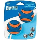 Chuckit! 33068 Ultra Squeaker - 2pk, Blue & Orange, Medium