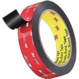 3M両面テープ、ローズベリーヘビーデューティー取り付け防水VHBフォームテープ、長さ4.8m、車の装飾、家の装飾、オフィスの装飾用の幅24mm (24mm X 4.8m)