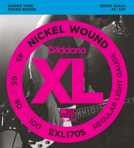D'Addario ダダリオ ベース弦 ニッケル Short Scale .045-.100 EXL170S 【国内正規品】