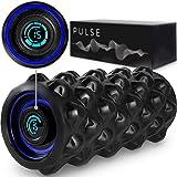 CubeFit Pulse Vibrating Foam Roller | Rechargeable Vibrating Foam Roller | Vibrating Roller | Foam Roller Vibration | Massage