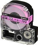 キングジム テープカートリッジ テプラPRO 強粘着 18mm ピンク SC18PW