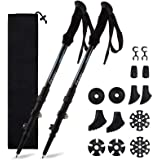 Fityou Nordic Walking Trekking Poles - 2 Pack Aluminum Metal Stick with Antishock and Quick Lock System, Adjustable, Ultralig