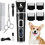 VOVO Dog Clippers Professional 3-Speed Low Noise Pet Grooming Kit Tools Rechargeable Cordless Electric Hair Clippers for Dogs