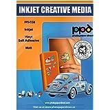 "PPD Inkjet Matt Self Adhesive White ""Premium Commercial Grade"" Tear proof Vinyl Waterproof Sticker A4 x 20 Sheets PPD-38-20"