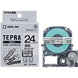 キングジム テープカートリッジ テプラPRO 強粘着 24mm 透明 ST24KW