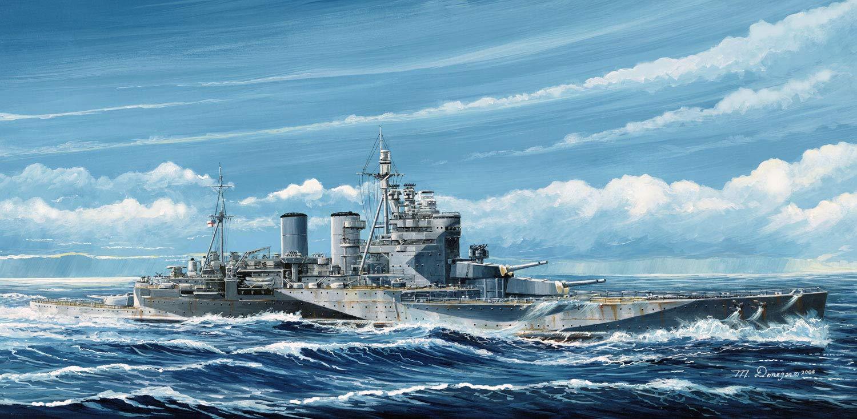 ピットロード 1/700 スカイウェーブシリーズ イギリス海軍 巡洋戦艦 レナウン 1945 プラモデル W221