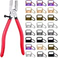 SNOWINSPRING Key Fob Hardware, 50PCS 1 Inch Lanyard Keychain Hardware with Pliers Tool for Keychain Clamp Hardware Supplies