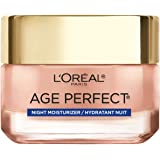 L'Oreal Paris Skincare Age Perfect Rosy Tone Cooling Night Moisturizer, Face Moisturizer to Reactivate Rosy Radiance and Firm
