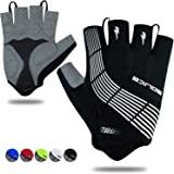 Souke Sports Cycling Bike Gloves Padded Half Finger Bicycle Gloves Shock-Absorbing Anti-Slip Breathable MTB Road Biking Glove