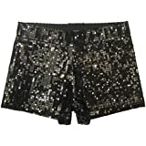 Bigood Women Ladies Occident Club Stage Hot Pants Performance Sequins Shorts