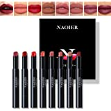 NAQIER 8PCS Matte Lipstick Sets, Nude Moisturizer Smooth Lip Stick, Waterproof liquid lipstick mate Make up Velvet lip gloss