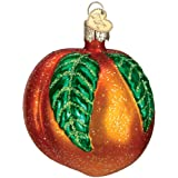 Old World Christmas Ornaments: Peach Glass Blown Ornaments for Christmas Tree