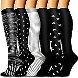 Bluemaple Compression Socks,(3or7pair) Compression Sock Women & Men - Best Running, Athletic Sports, Crossfit, Flight Travel