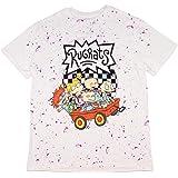 Nickelodeon Men's Rugrats Group Wagon Ride With Logo Splatter T-Shirt