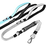 SKYMEE 6FT Upgrade Bungee Dog Leash for Heavy Dogs, 5-in-1 Multifunction Shock Absorbing Reflective Leash with Car Seat Bucke
