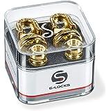 Schaller S Locks Guitar Strap Locks and Buttons (Pair) Gold