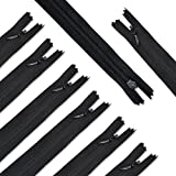 Renashed Nylon #3 Invisible Zippers 45pcs 21.5 Inch for Tailor Sewer Sewing Craft Crafter's Special Black