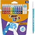 BIC Kids Colour and Erase Magic Felt Pens - Assorted Colours, Pack of 12 Markers