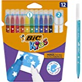BIC Kids Colour & Erase Magic Felt Pens - Assorted Colours, Pack of 12 Markers
