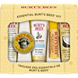 Burt's Bees Essential Everyday Beauty Gift Set, 5 Travel Size Products - Deep Cleansing Cream, Hand Salve, Body Lotion, Foot