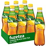 Fuze Lemon Black Iced Tea Bottle, 6 x 1.25 l