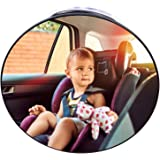 Baby Car Mirror Suction Cup, Forward Facing Baby Mirror Rear View for Infant Children, Baby Mirror Car Seat Back Seat Safety
