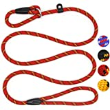 Coolrunner Dog Rope Leash, 5 FT Pet Slip Lead, Dog Training Leash, Standard Adjustable Pet Nylon Leash for Small Medium Dogs