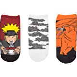 Naruto Shippuden Socks Cosplay (3 Pair) - (1 Size) Naruto, Clouds, Nine Tails Gifts Lowcut Socks Women & Men's
