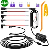 Dash Cam Hardwire Kit with Mini/Micro Port, Dashboard Camera Car Charger Cable Kit 12V- 24V to 5V, Power Adapter with LP/Mini