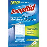 DampRid Fresh Scent Hanging Bag Absorber for Closets Traps Excess Moisture for Fresher, Cleaner Air, 3 Pack (16 oz. ea.)