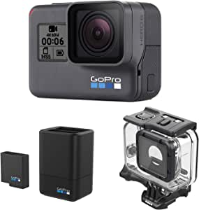 GoPro HERO6 Black + デュアルバッテリーチャージャー + Super Suit 3点セット ブラック 212335