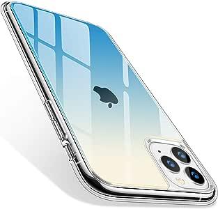 TORRAS iPhone 11 Pro 用ケース 9Hガラス背面+TPUバンパー 高透明 日本旭硝子製 滑り止め 黄変/指紋防止 耐衝撃 三層構造アイフォン 11 プロ用カバー (グラデーションブルー)