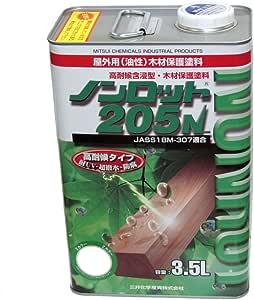 三井化学産資 ノンロット205N ZSナチュラルオーク 3.5L