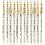 AIHAO Naturl Story 8653 Gel Ink Pens Extra Fine Point Pens Rollerball Pens 0.35mm (Red Color 12-Pack)