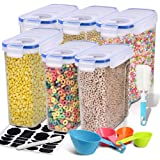 Cereal Container, EAGMAK Airtight Dry Food Storage Containers, BPA Free Large Kitchen Pantry Storage Container for Flour, Sna