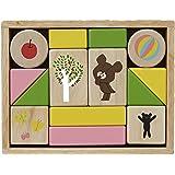ニチガン くまのがっこうおとつみき KG29 ジャッキー NICHIGAN 積み木 積木 木製玩具