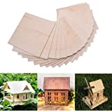15 Pack Balsa Wood Sheets, Basswood Thin Wood Sheets Hobby Wood MDF DIY Wood Board for House Aircraft Ship Boat DIY Wooden Pl