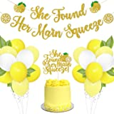Lemon Bridal Shower Party Decoration Set She Found Her Main Squeeze Banner Cake Topper Yellow Balloons Arch Garland Bachelore