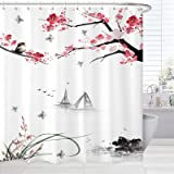 BROSHAN Ombre Fabric Shower Curtain,Colorful Rainbow Color Modern Decorative Bathroom Curtain Set,Abstract Ombre Decoration B