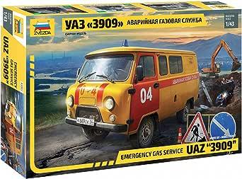 ズベズダ 1/43 UAZ 3909 ガスサービス プラモデル ZV43003