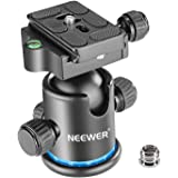 Neewer Pro Metal Tripod Ball Head 360 Degree Rotating Panoramic with 1/4 inch Quick Shoe Plate, Bubble Level for Tripod,Monop